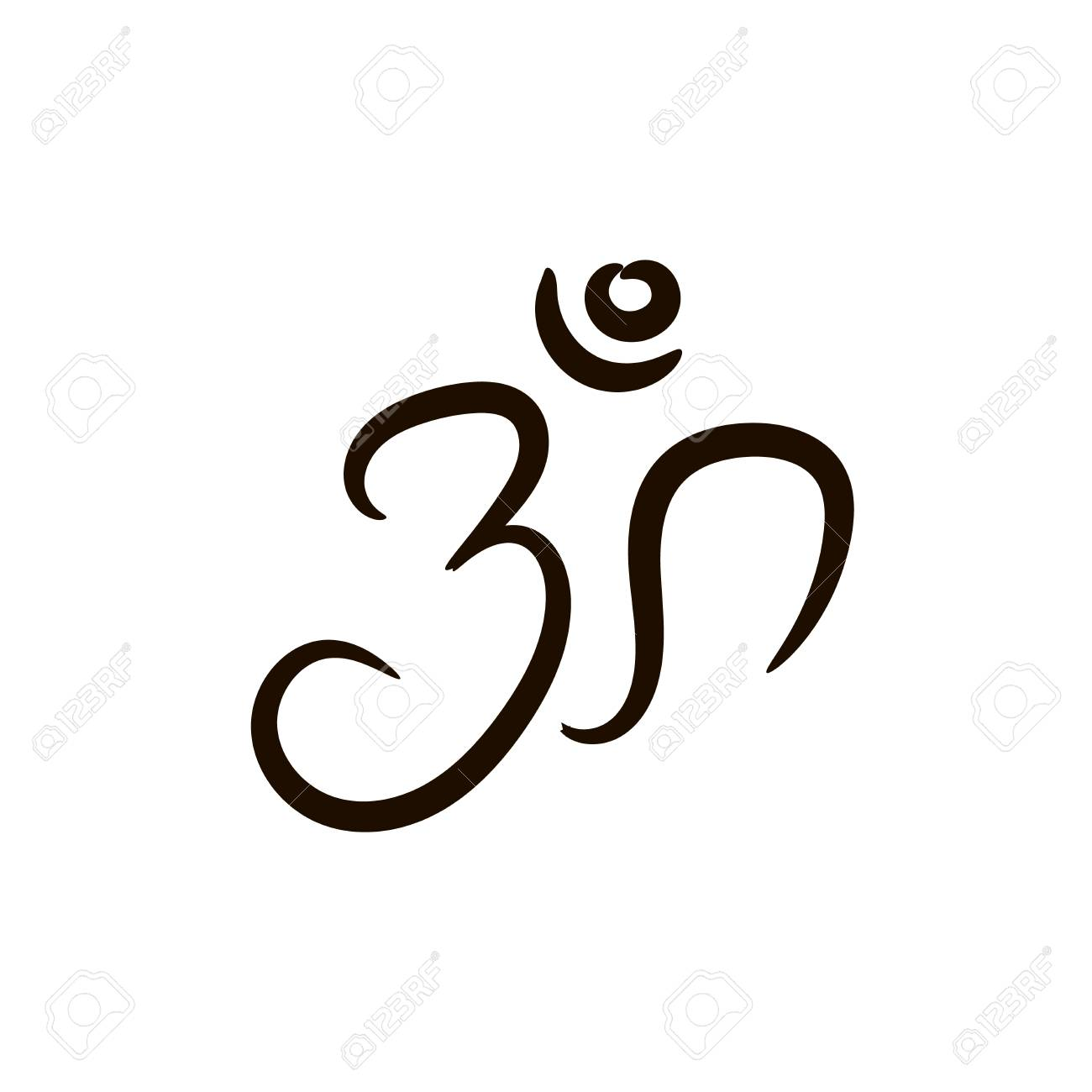 Sign Vector Hindu Om Icon In Tamil Stock Photo Picture And Royalty