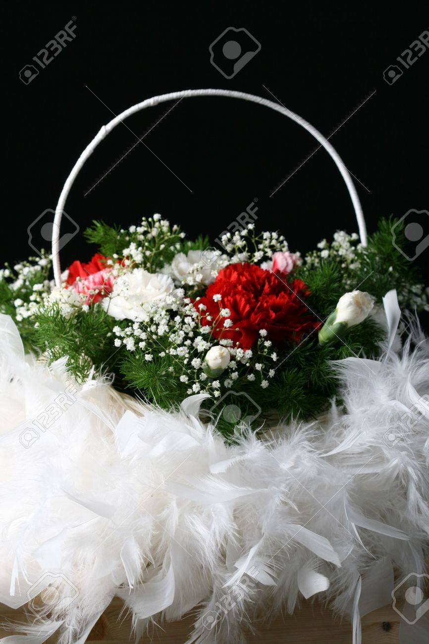 bouquet on a table very beautiful flowers red and white stock, Beautiful flower
