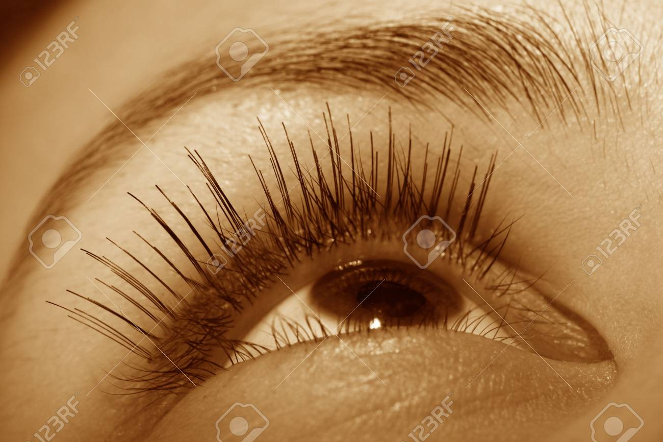 girl eye look around for find something Stock Photo - 2555726