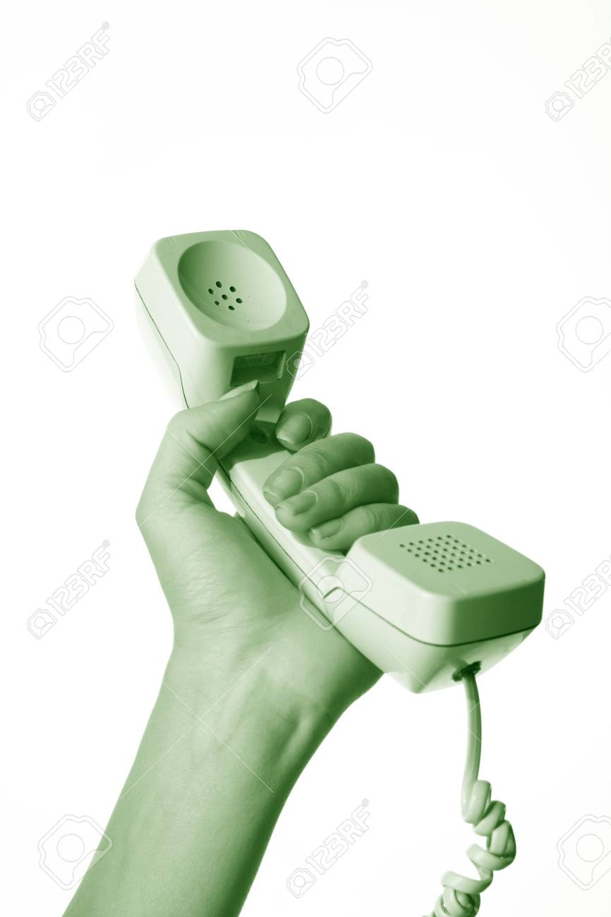 phone ring in human hand on white Stock Photo - 2555560
