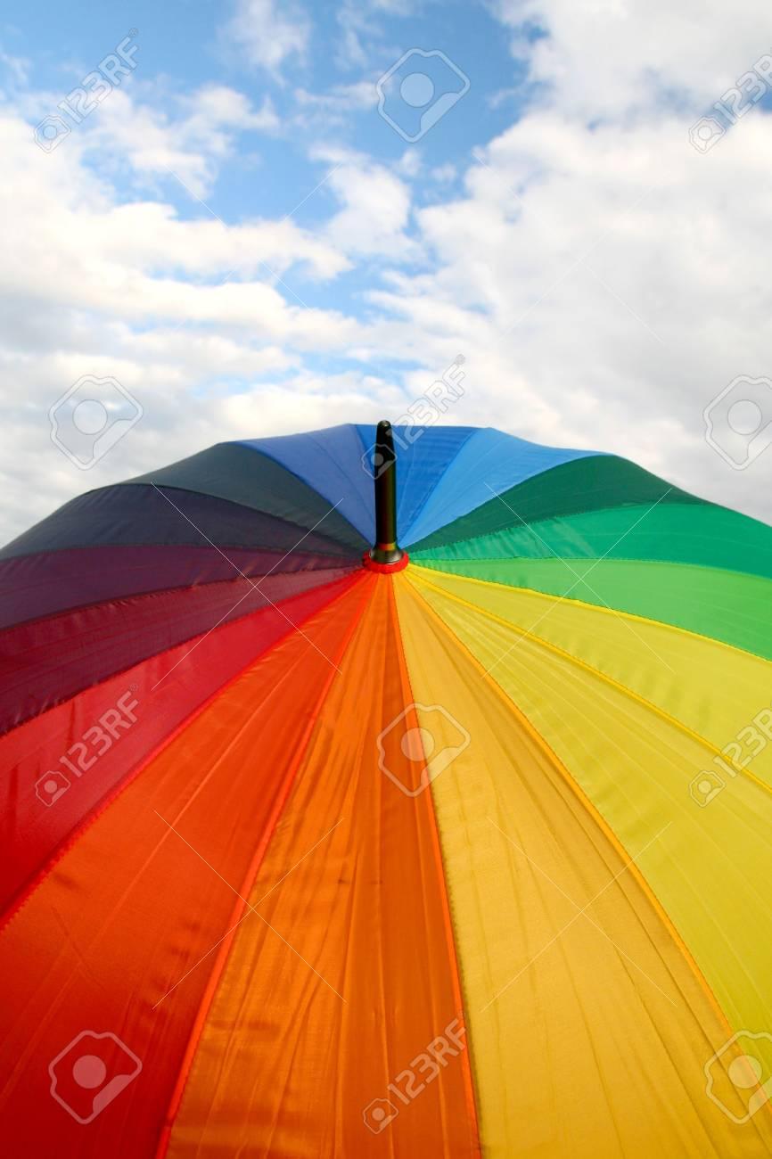 umbrella on sky weather colorful background Stock Photo - 3138986