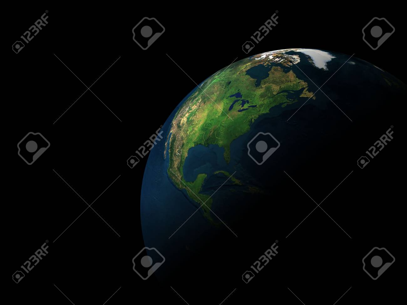 3d earth in black space Stock Photo - 3380074