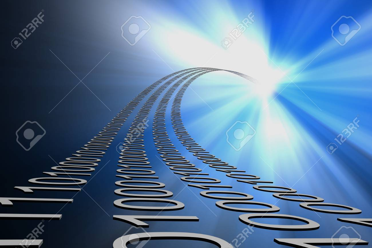 data flow 3d abstract background Stock Photo - 3402922