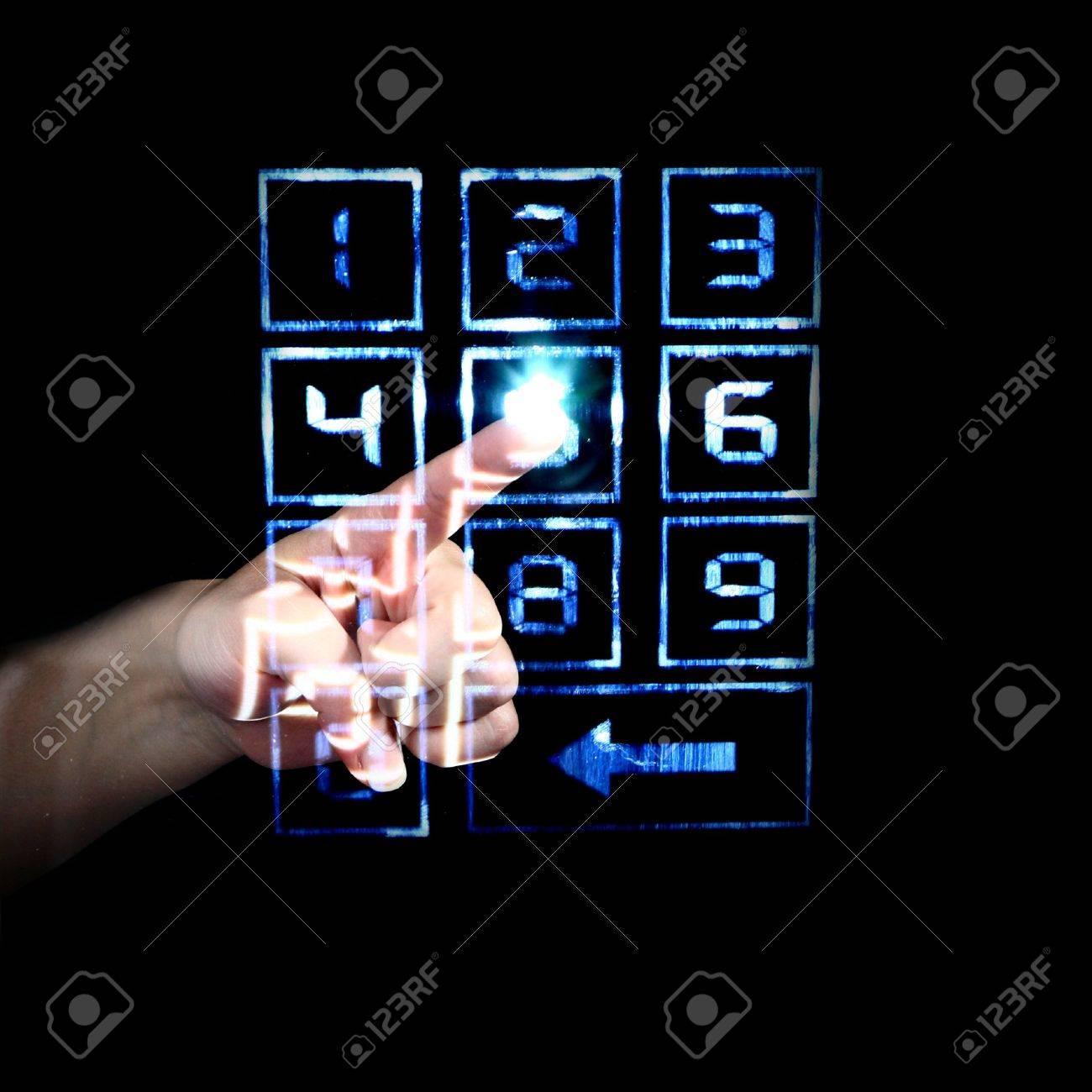 enter secret code on numpad security control Stock Photo - 3983244