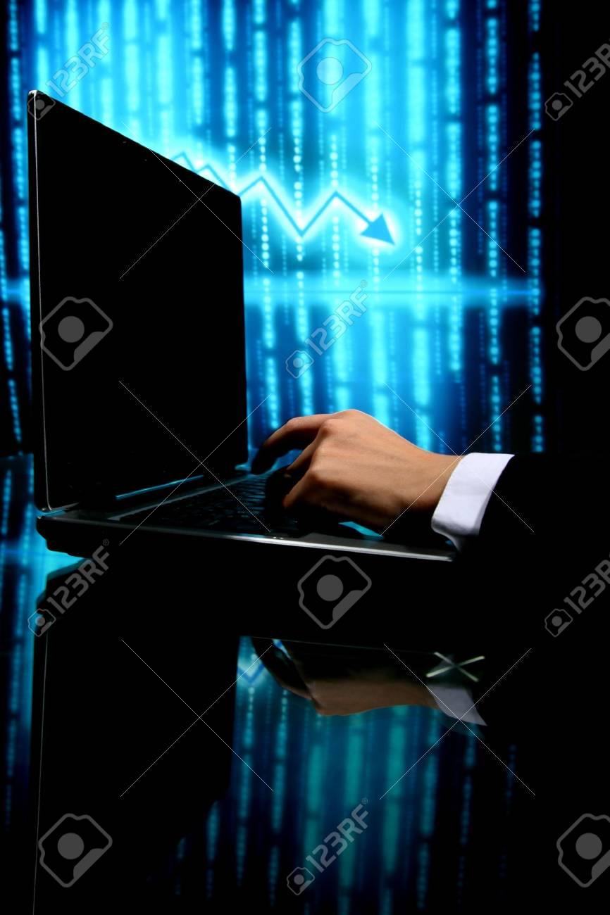 laptop finance work close up Stock Photo - 4363302