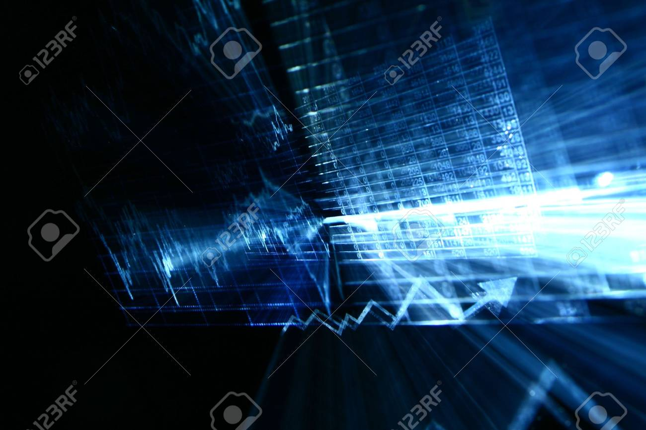 financial abstract background in fast motion Stock Photo - 4996320
