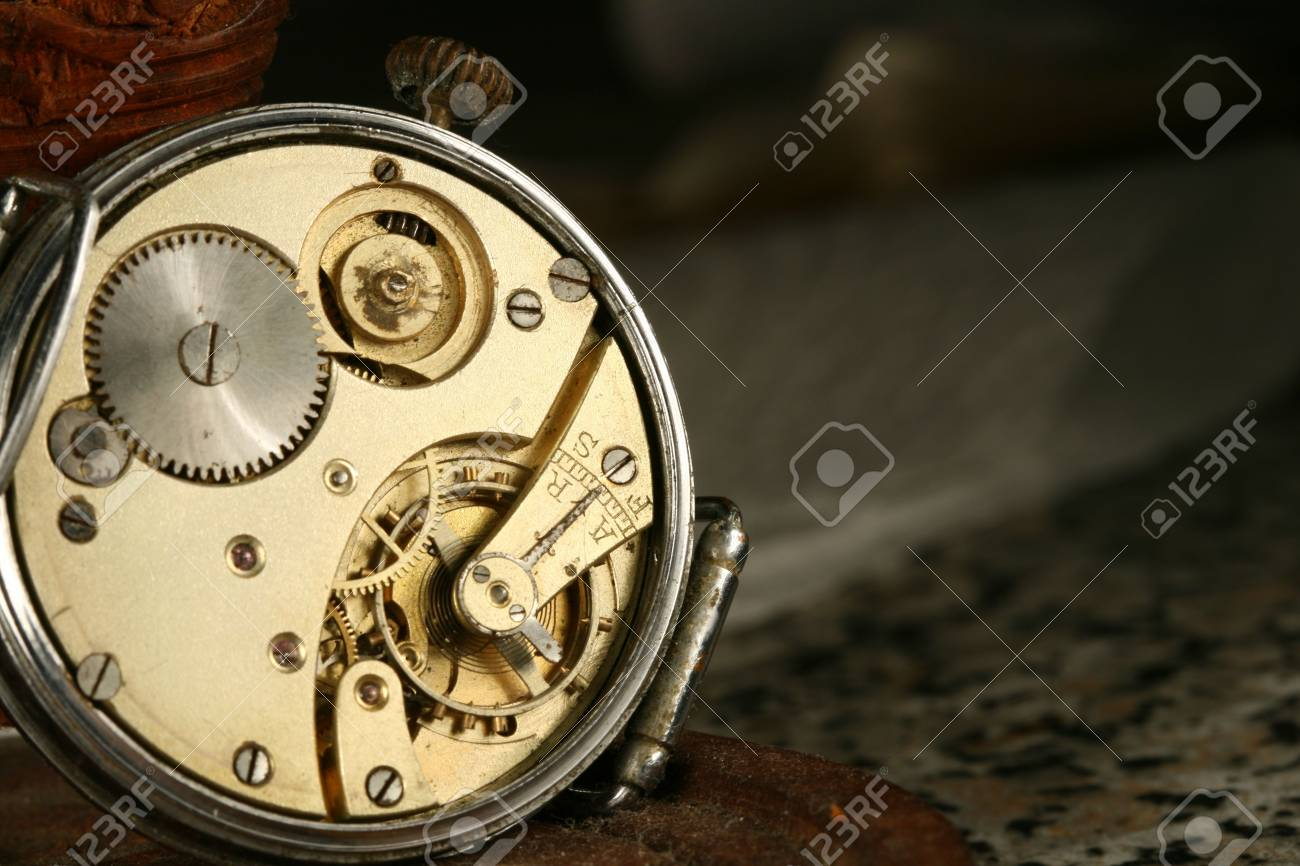 clockworks device engine gears close up Stock Photo - 5019553