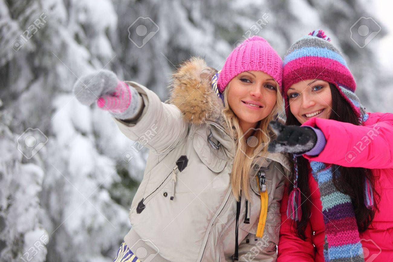winter women close up portrait Stock Photo - 6360434