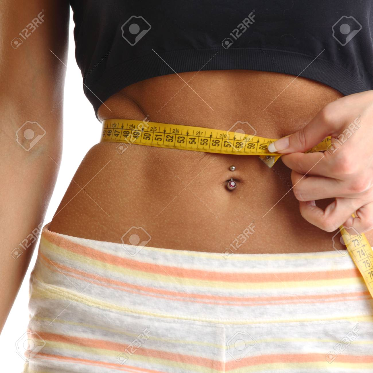 perfect woman hold scales tape Stock Photo - 6364162