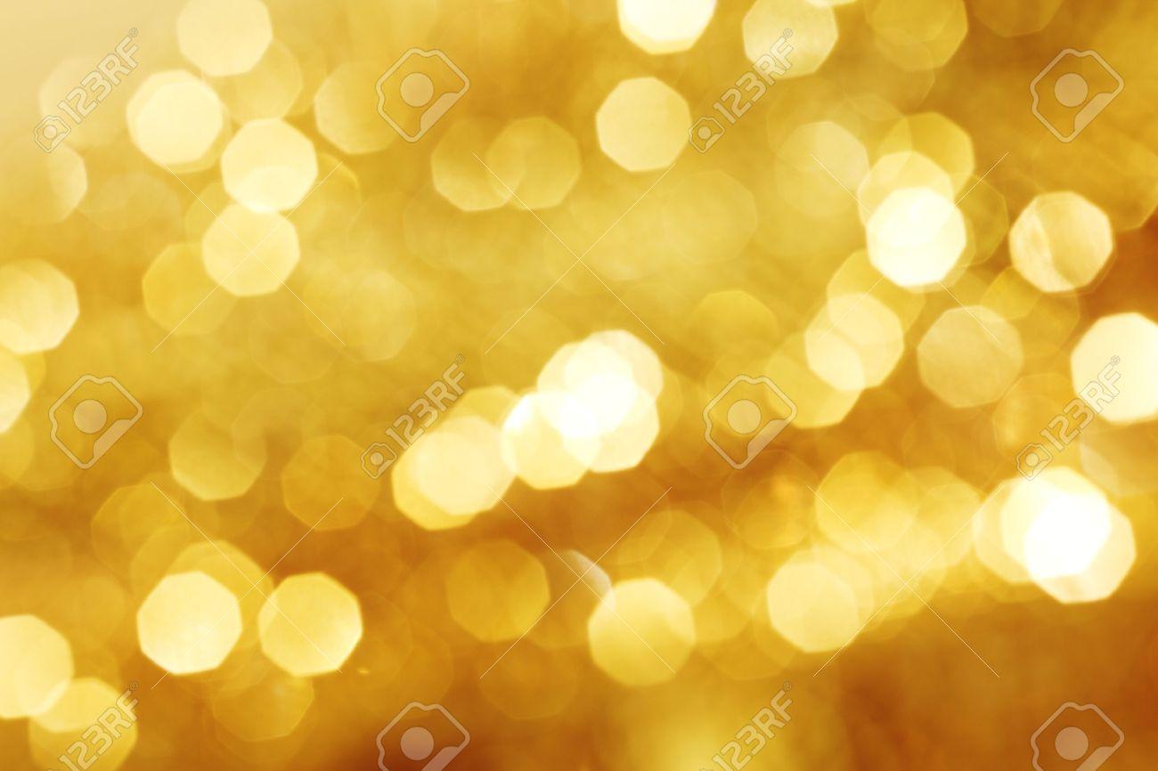 golden bokeh background close up Stock Photo - 8366576