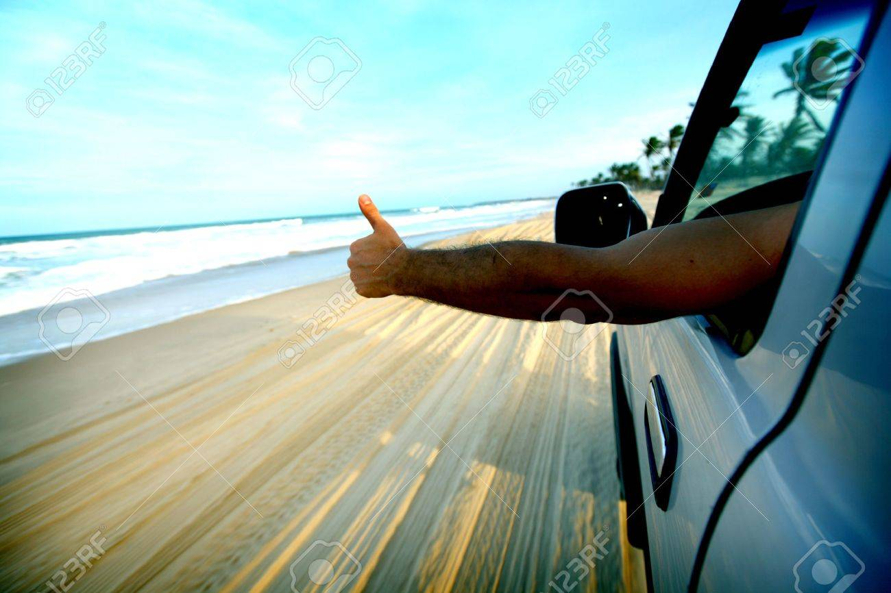 beach drive on allroad car Stock Photo - 8407024
