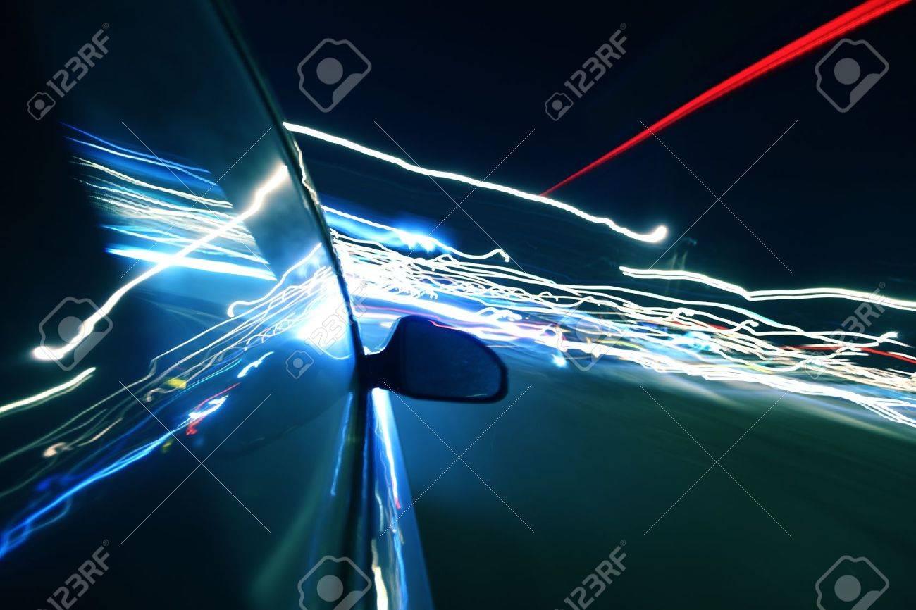 speed drive in night city Stock Photo - 8407006