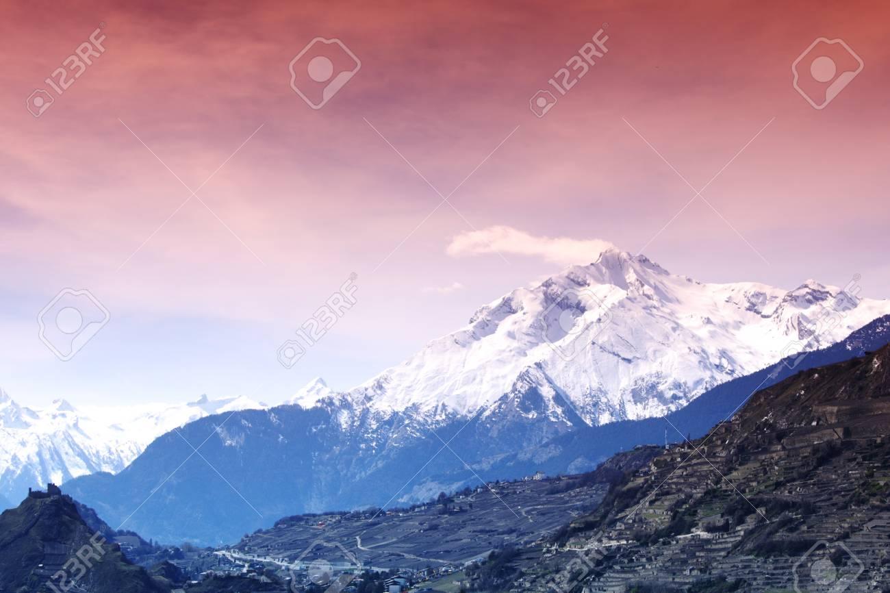 alpen mountain forest sun shine Stock Photo - 8453621