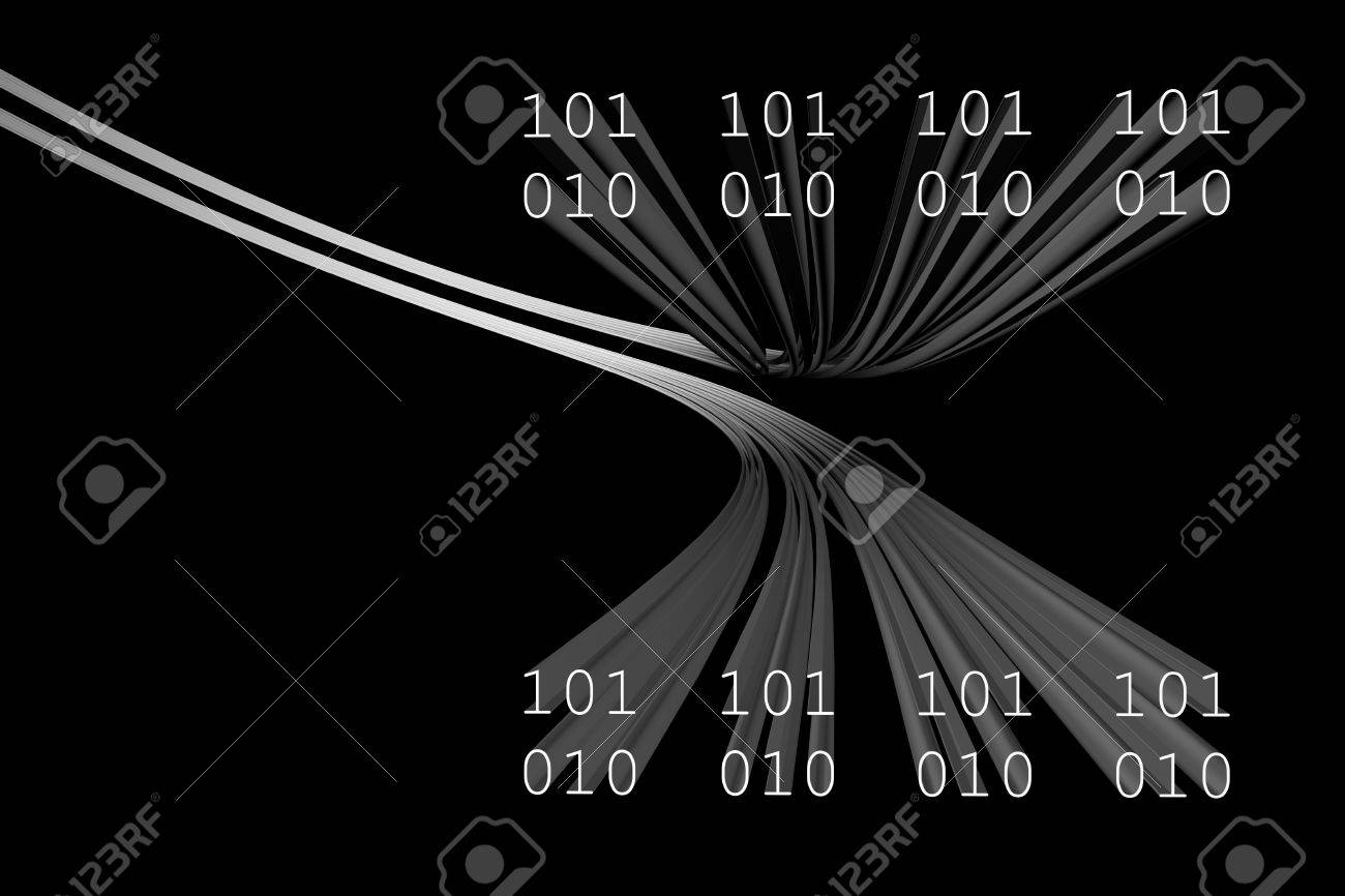 3d data flow  abstract cyberspace background Stock Photo - 8516177