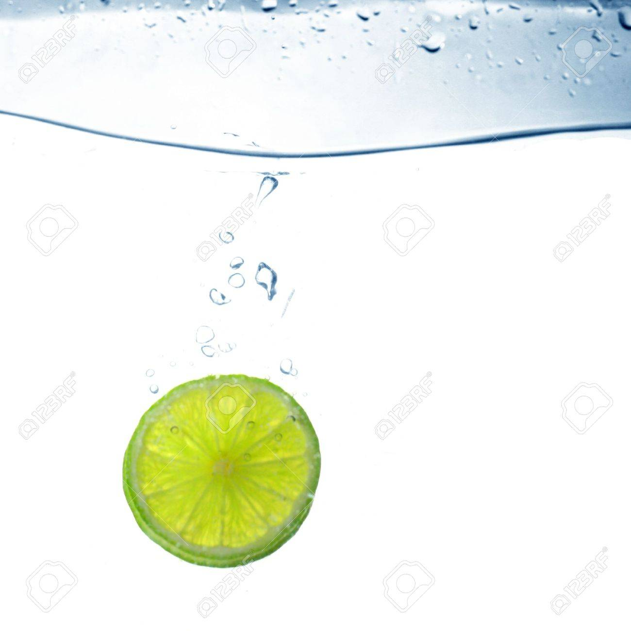 lime water splash freshness drink concept Stock Photo - 8515767
