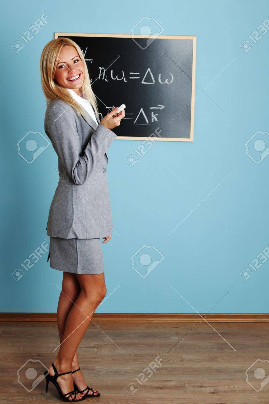 teacher draw condition of phase synchronism Stock Photo - 9006911
