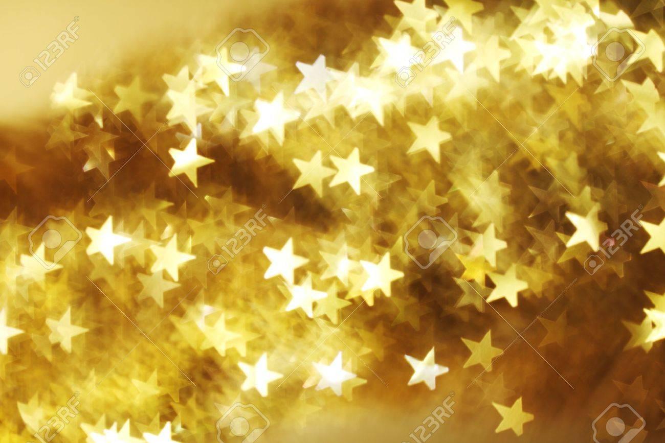 golden star bokeh background close up Stock Photo - 9127775