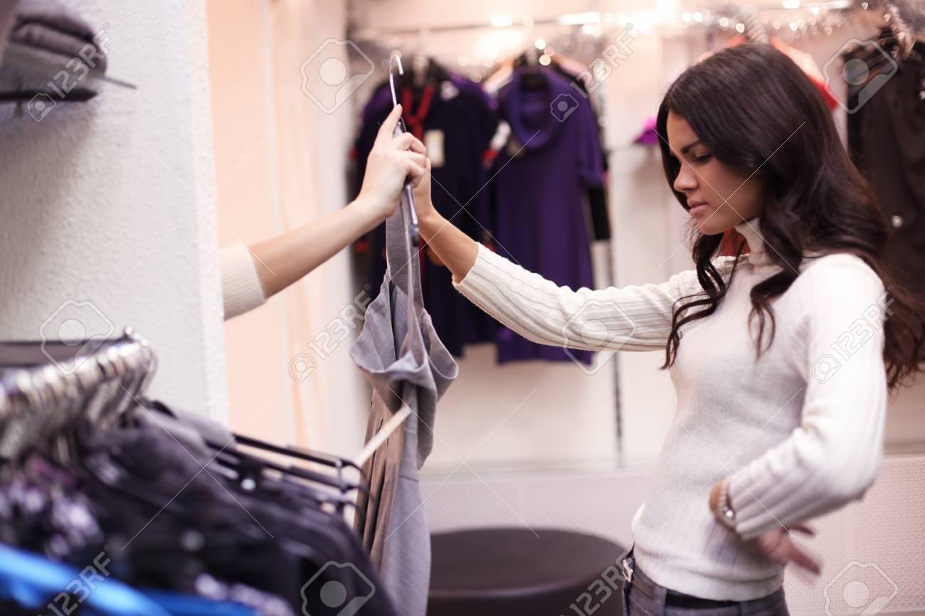 woman in dress room wear dress Stock Photo - 9994417