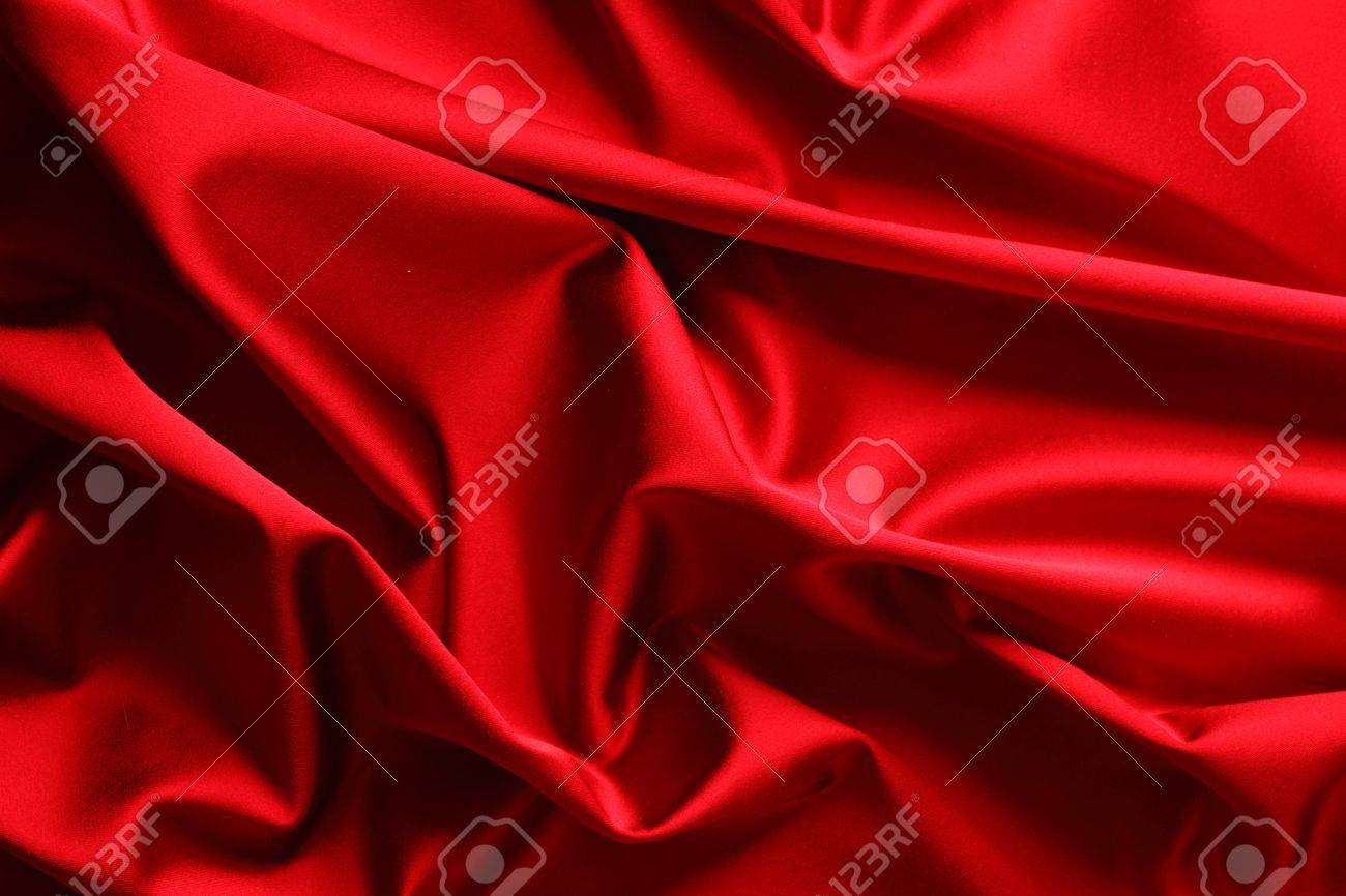 red satin background close up Stock Photo - 10073320