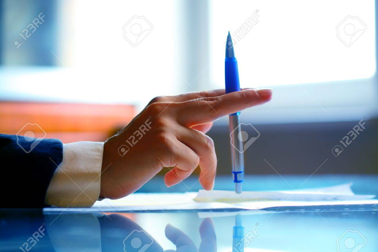 pen work hand work background Stock Photo - 10073616