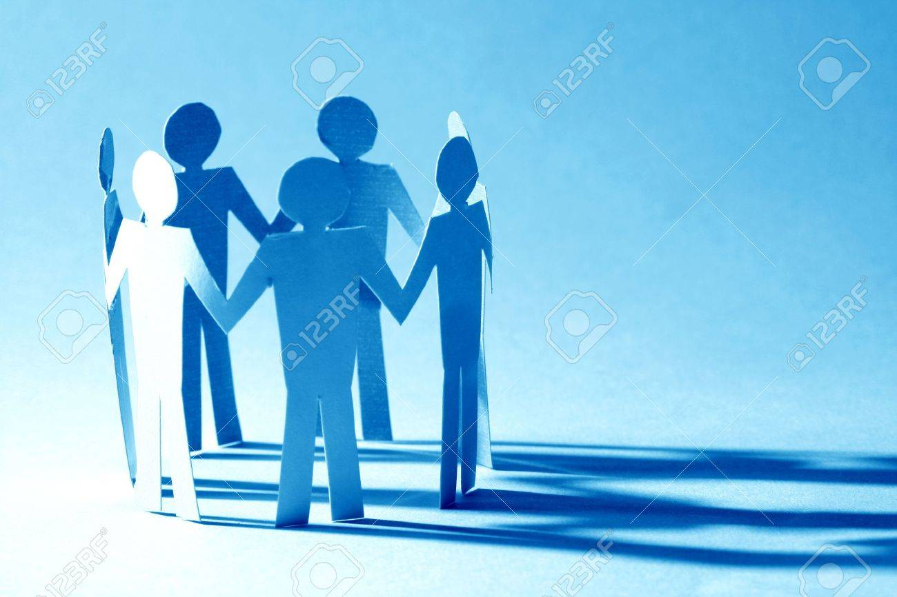 paper team linked together partnership concept Stock Photo - 10073446