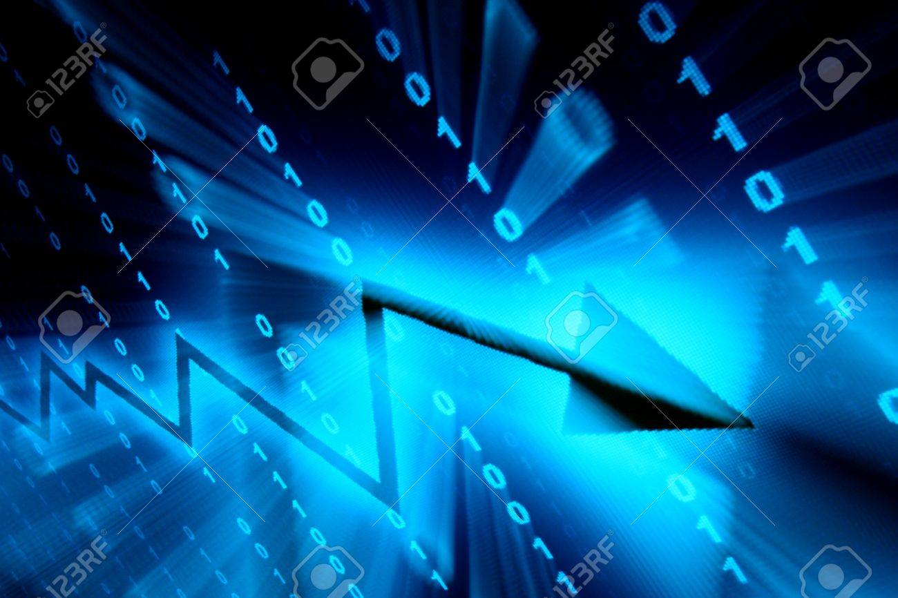 blue data space abstract financial background Stock Photo - 10107374