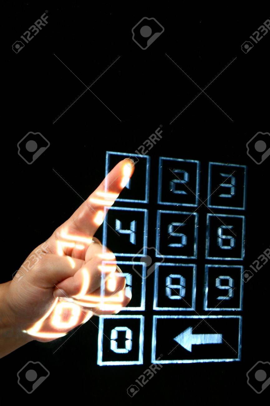 enter secret code on numpad security control Stock Photo - 10098539