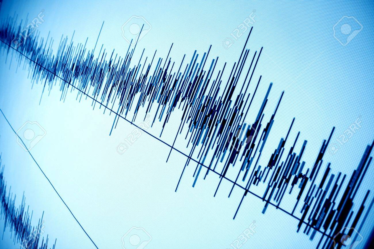 sound audio wave abstract background Stock Photo - 10098557