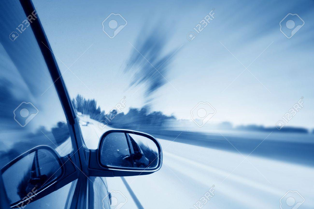 speed drive blurred transportation background Stock Photo - 10136098
