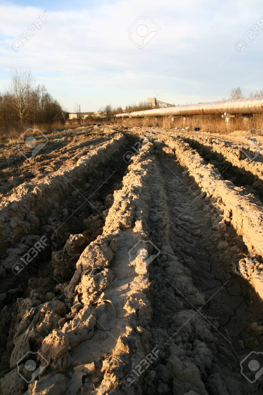 track in dirt 4x4 cross outdoors extreme background Stock Photo - 10136794