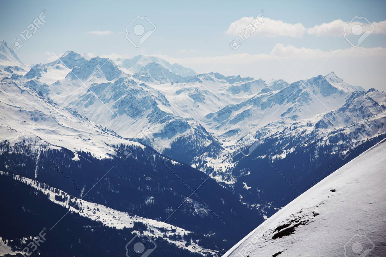 top of mountains in blue sky Stock Photo - 10170976