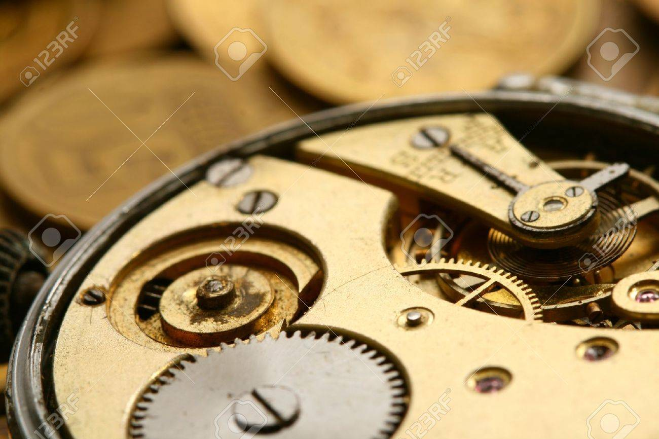 time is money coins and clock macro concet Stock Photo - 10316185