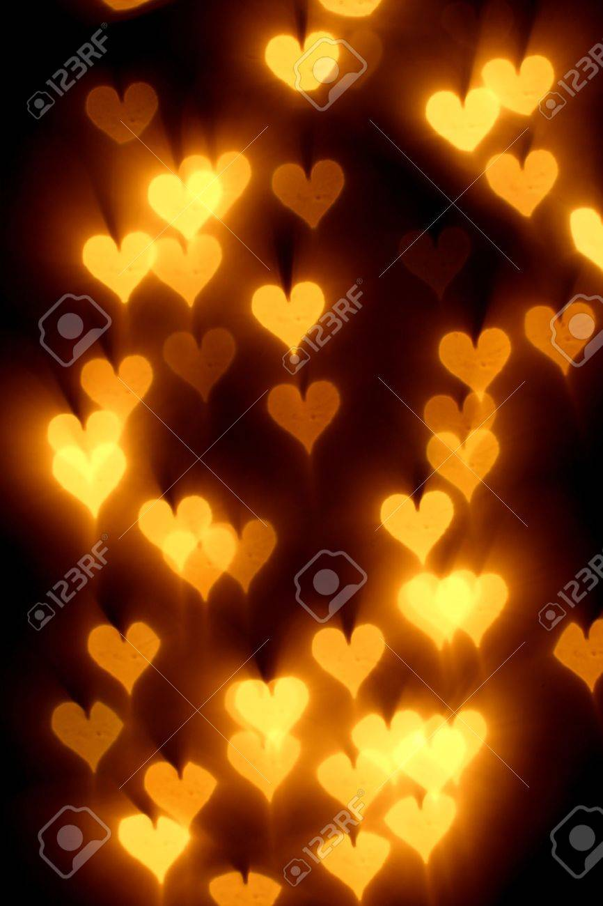 bokeh hearts background abstract macro Stock Photo - 10376085