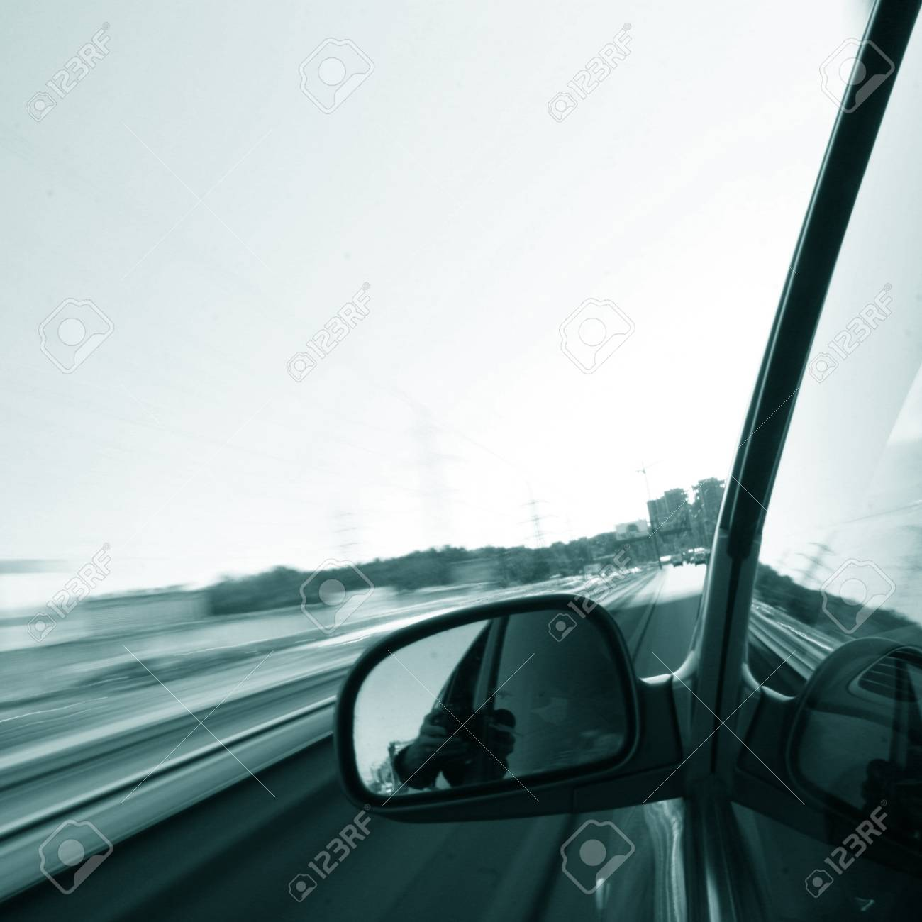 speed drive blurred transportation background Stock Photo - 10462316