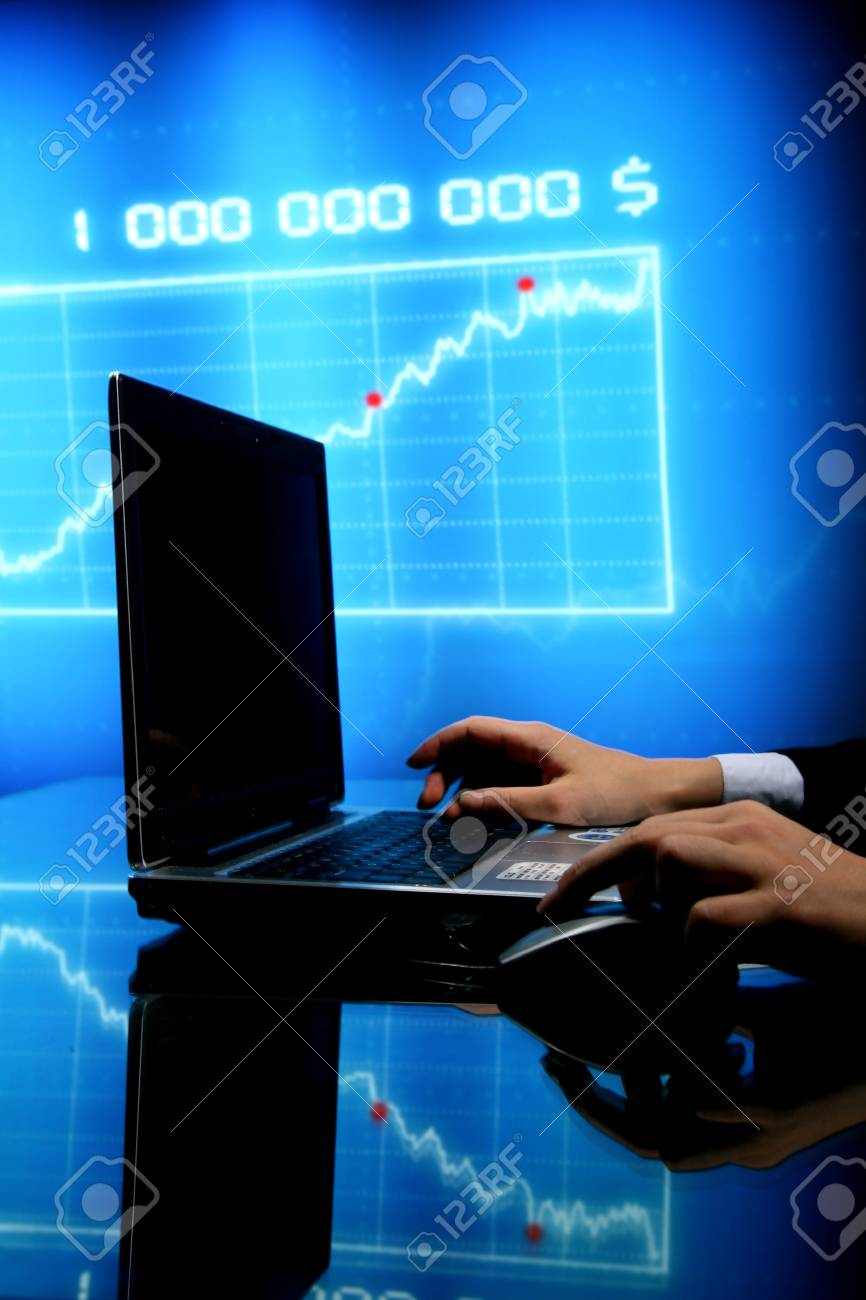 laptop finance work close up Stock Photo - 10469603
