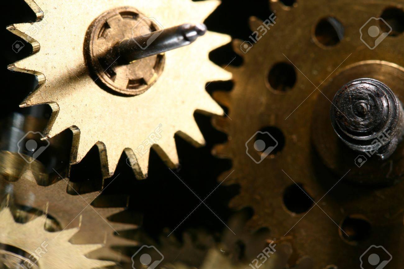 macro mechanical gear background close up Stock Photo - 10469684