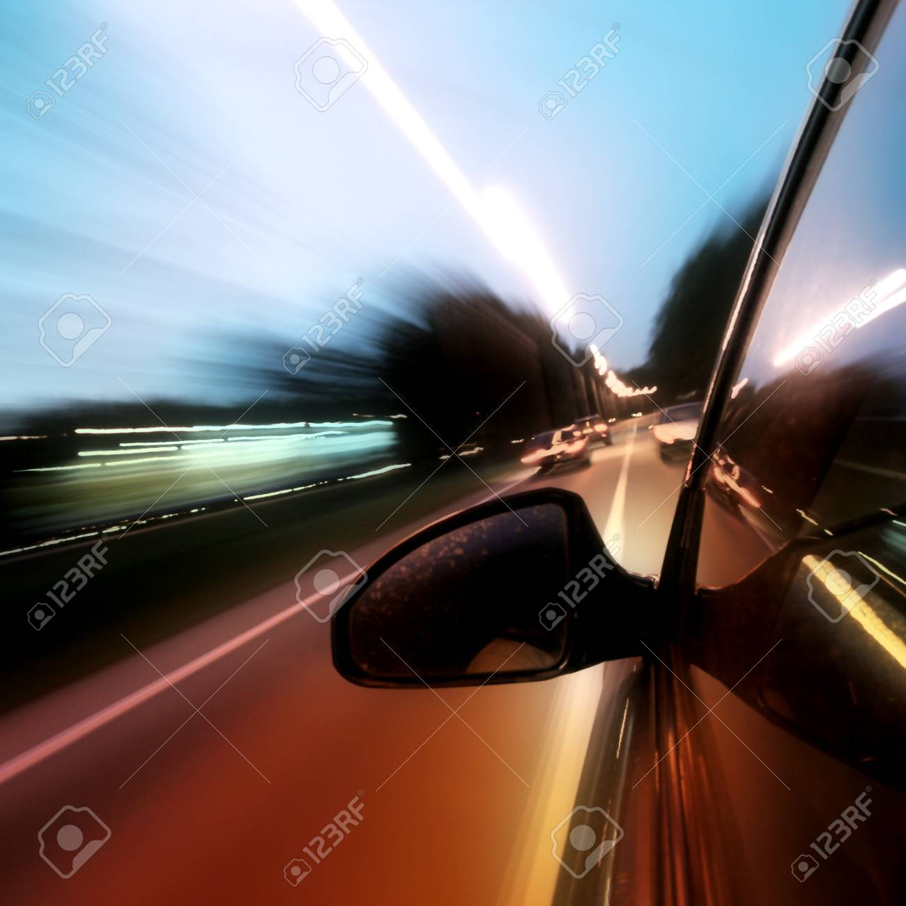 speed car on highway motion blurred Stock Photo - 10649881