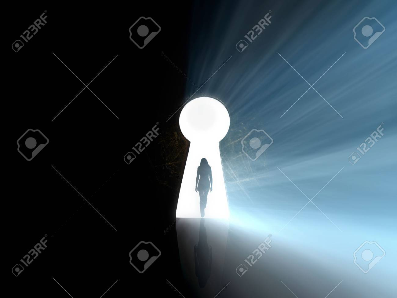 girl find access to big secret Stock Photo - 10651381