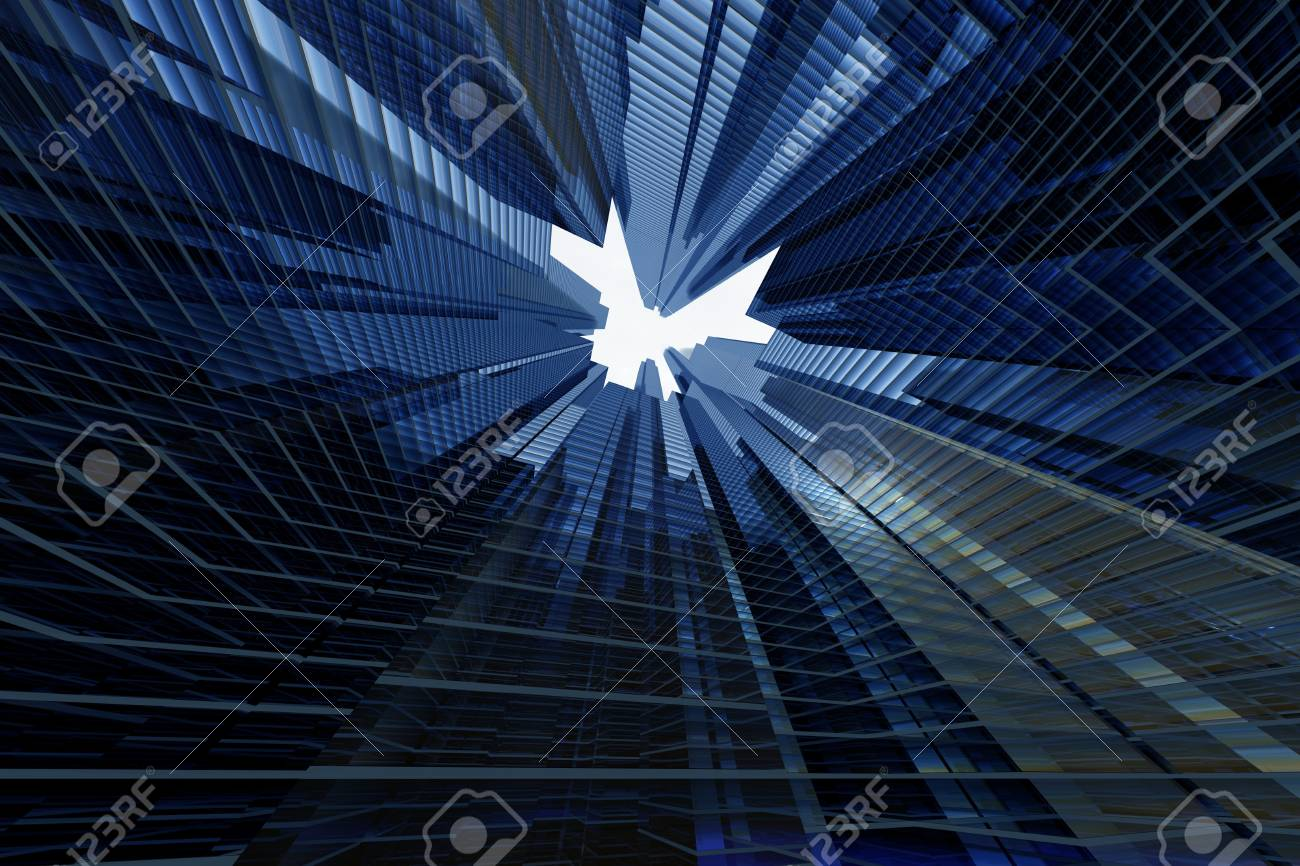 skyscrapers 3d in sky business concept Stock Photo - 10724876