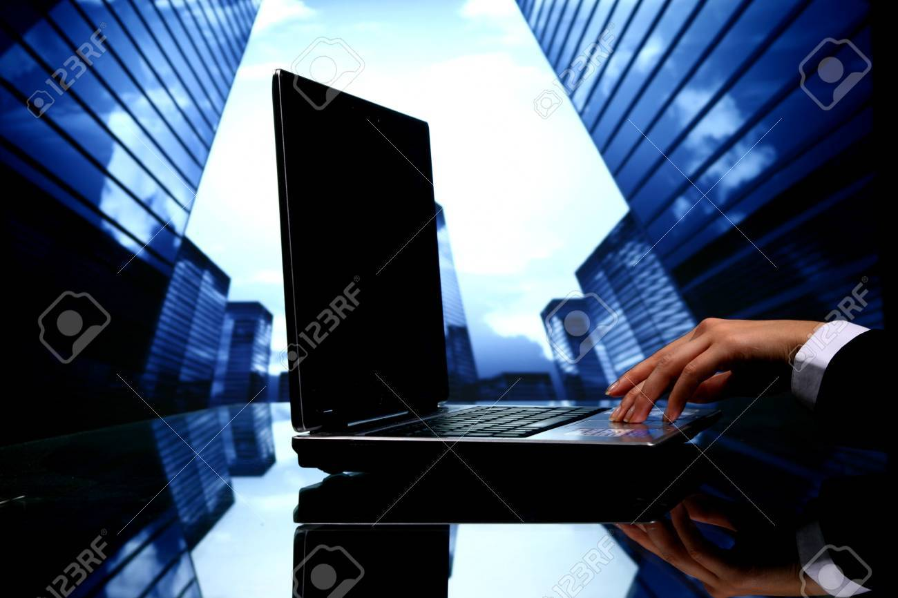cyber sales scrapers on background Stock Photo - 10781959