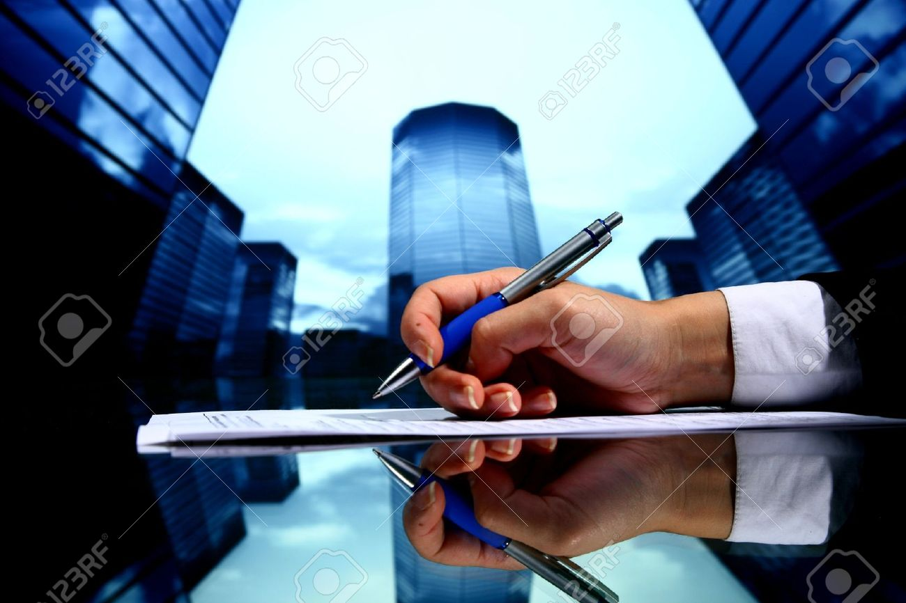 professional presentation business background Stock Photo - 10781976