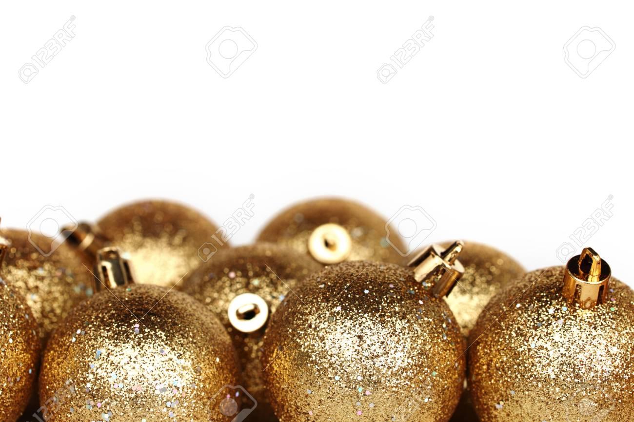 golden christmas ball isolated on white Stock Photo - 11138162