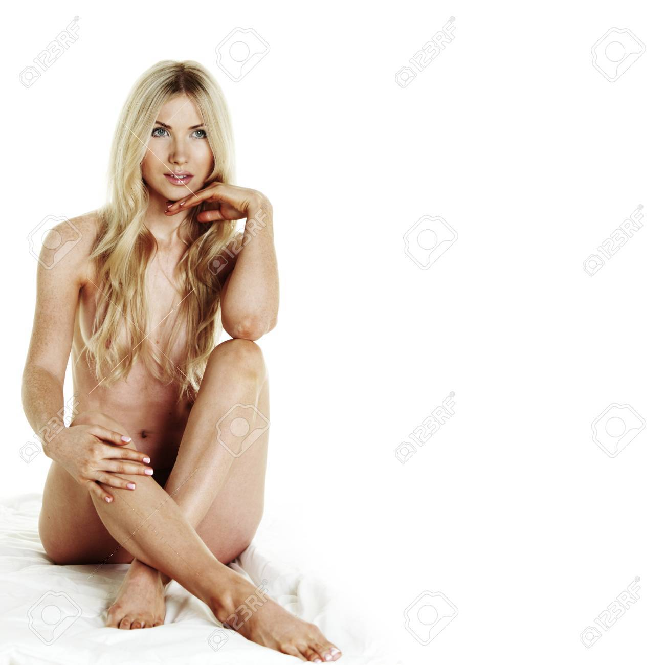 nude woman isolated on white Stock Photo - 11340219