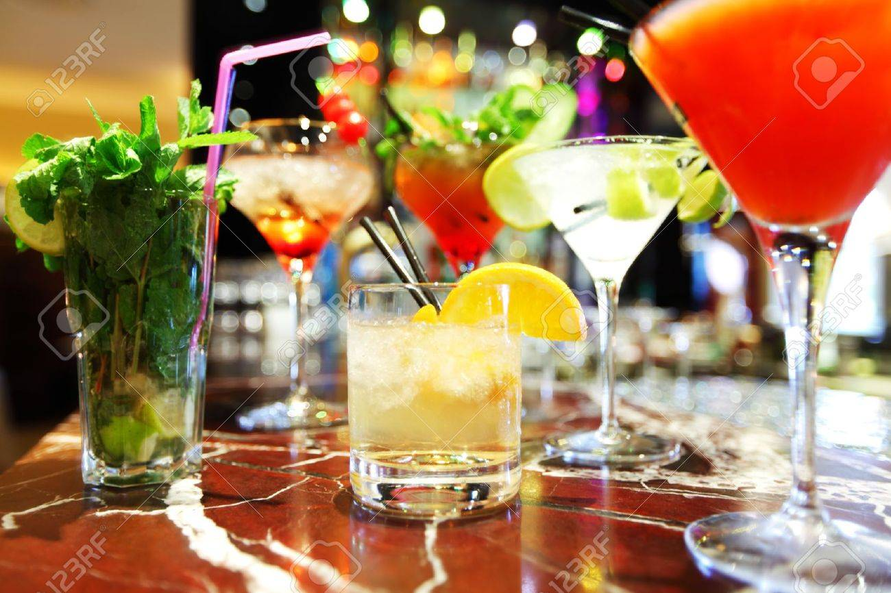 Colorful cocktails close up Stock Photo - 13564153