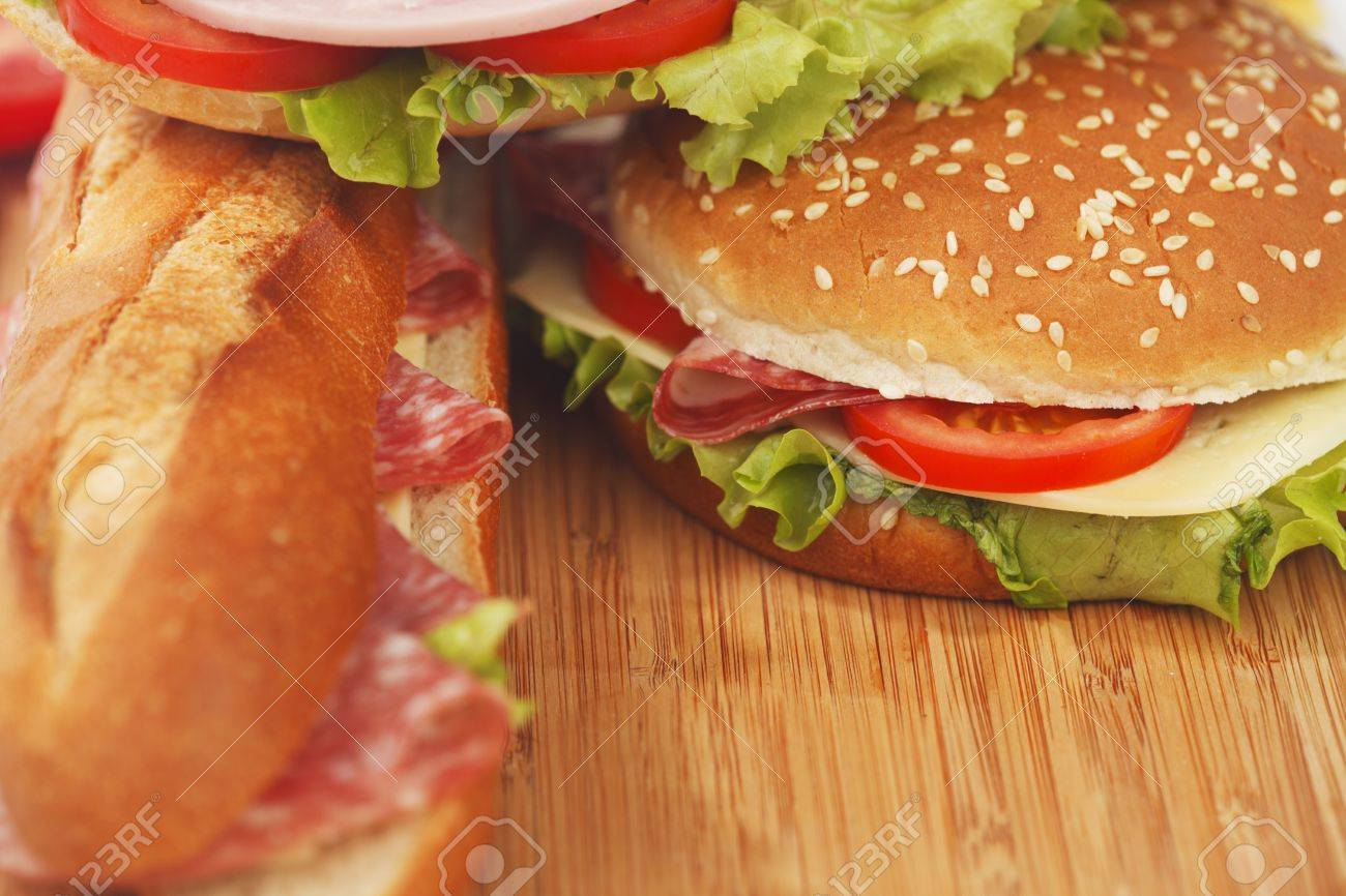 pile of sandwiches close Stock Photo - 15540665