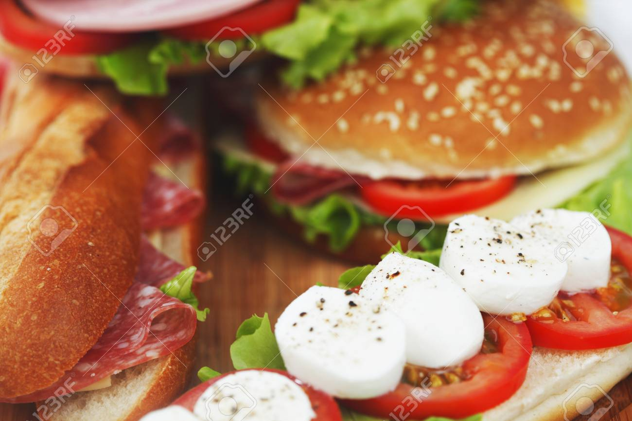 pile of sandwiches close Stock Photo - 15559635