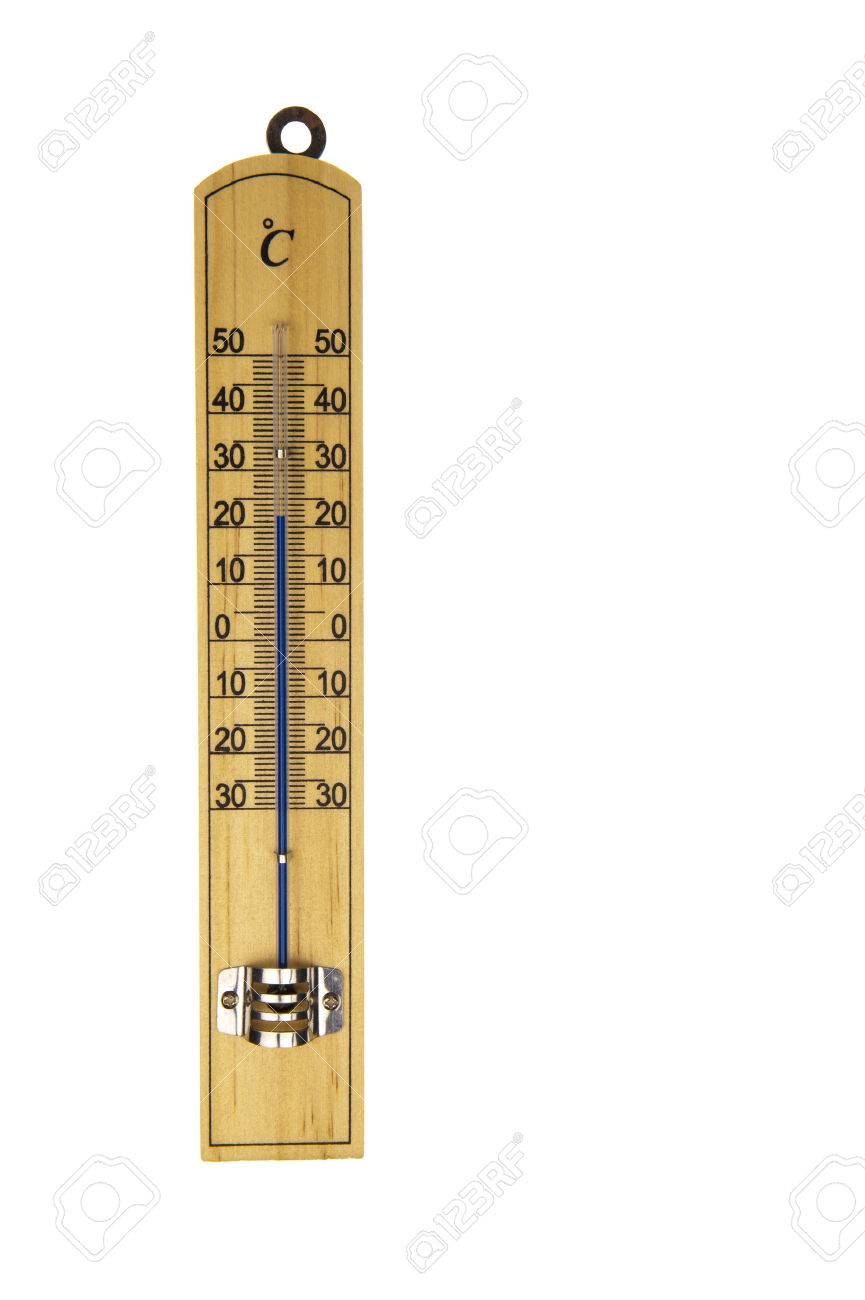 Conventional Blue Mercury Room Thermometer In Celcius Scale,.. Stock ...