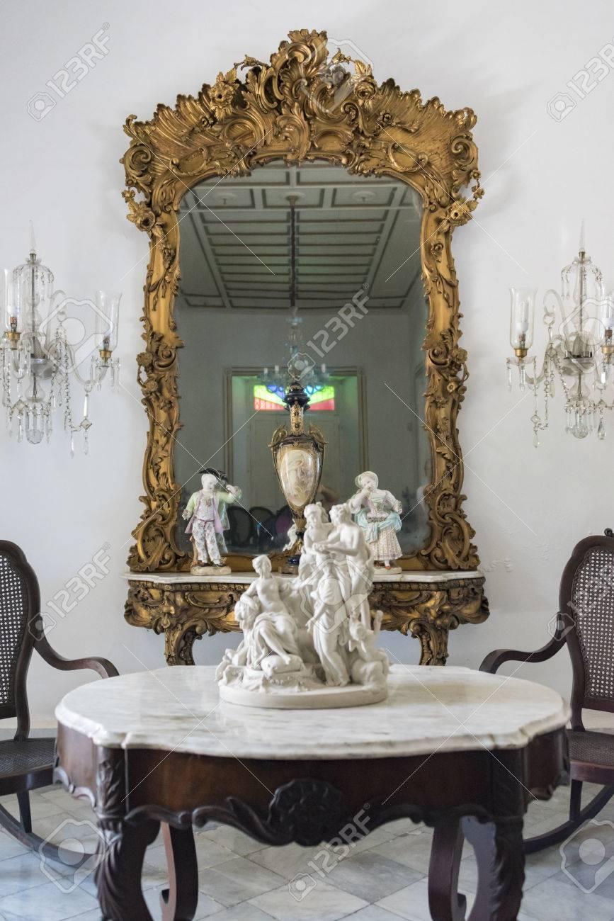 Museo De Arte Colonial, Sancti Spiritus, Cuba. Mesa Antigua De ...
