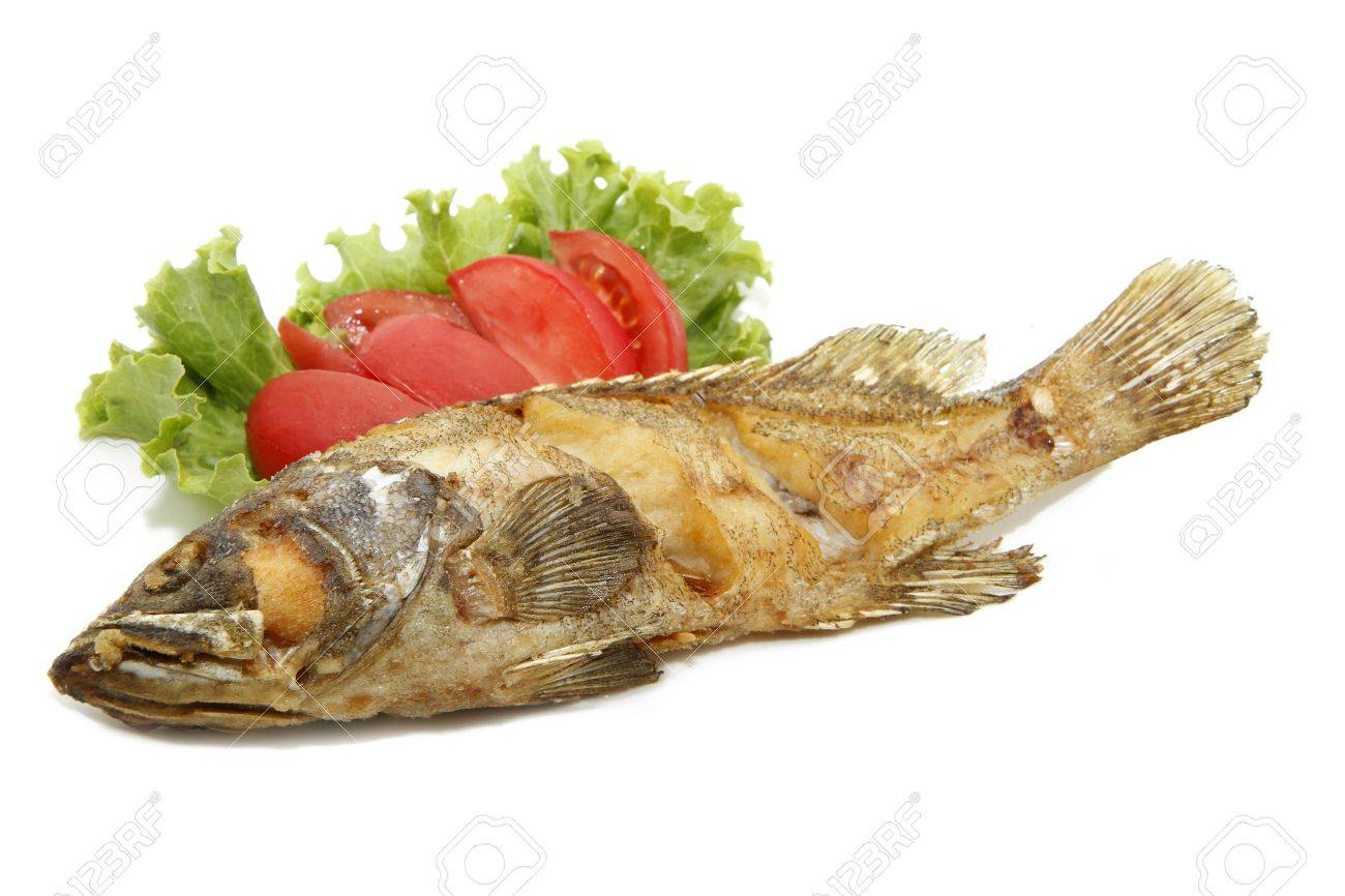 fried grouper fish Stock Photo - 8702902