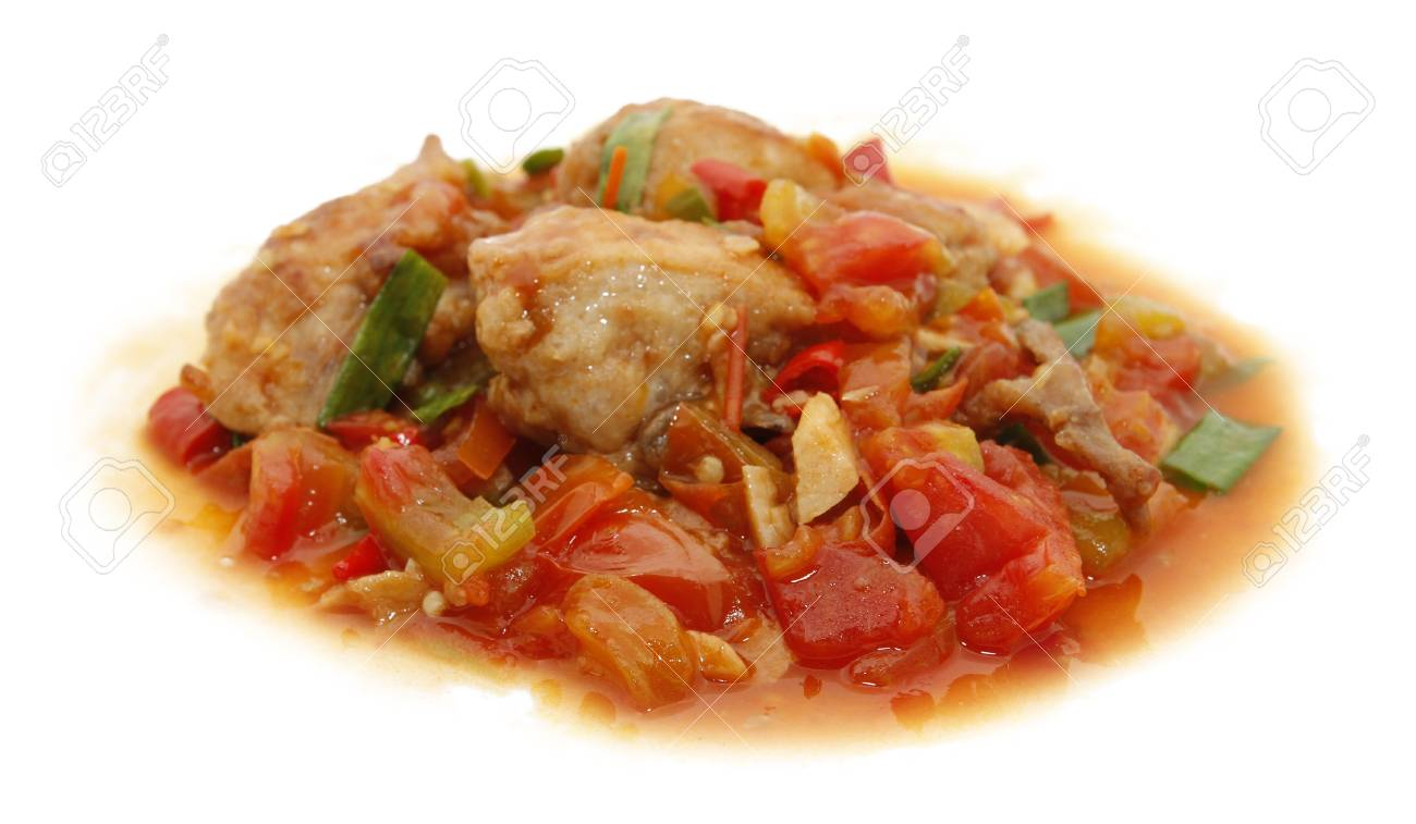 chicken tomato spicy Stock Photo - 14168831